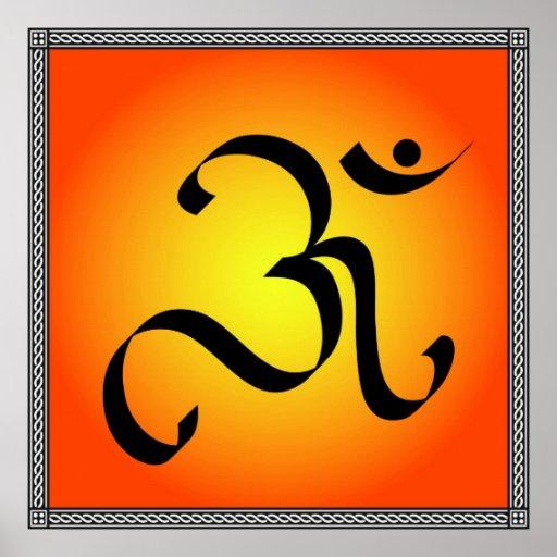 Símbolo de OM Póster