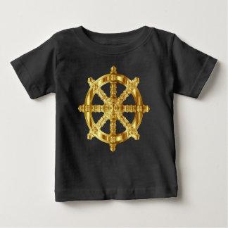 Símbolo de oro del Buddhism y del Hinduism de la Playera De Bebé