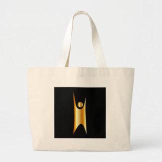 Símbolo de oro del humanismo bolsa de tela grande