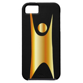 Símbolo de oro del humanismo funda para iPhone 5 tough
