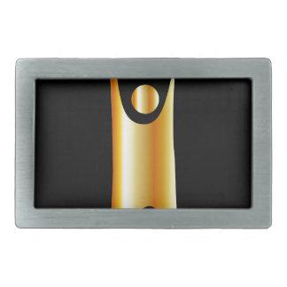 Símbolo de oro del humanismo hebilla cinturón rectangular