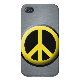 Símbolo de paz (amarillo) iPhone 4/4S funda
