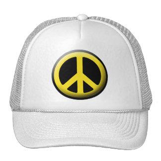 Símbolo de paz (amarillo) gorras