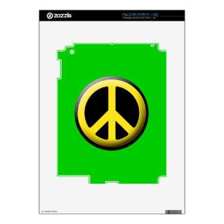 Símbolo de paz amarillo iPad 2 skin