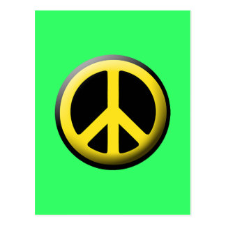 Símbolo de paz (amarillo) postal