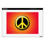 Símbolo de paz (amarillo) calcomanía para 38,1cm portátil
