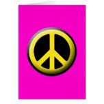 Símbolo de paz (amarillo) tarjetas