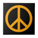 Símbolo de paz anaranjado azulejos cerámicos