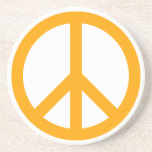Símbolo de paz anaranjado posavasos diseño