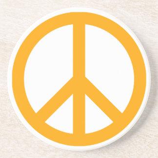 Símbolo de paz anaranjado posavasos para bebidas