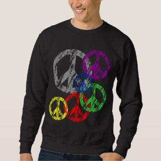 Símbolo de paz apenado gris con agrupar del arco sudadera