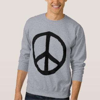 Símbolo de paz áspero - negro jersey