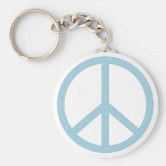Símbolo de paz azul de los Arty Llavero Redondo Tipo Pin