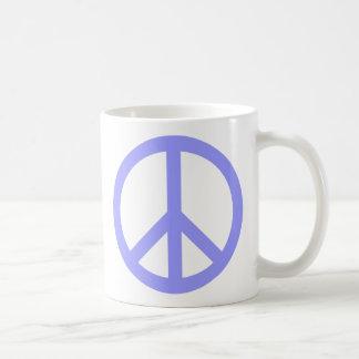 Símbolo de paz azul tazas
