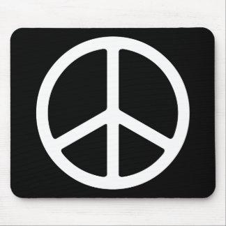 Símbolo de paz blanco flaco alfombrillas de raton