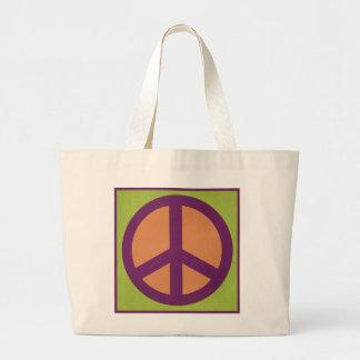 Símbolo de paz bolsas de mano