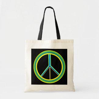 Símbolo de paz bolsa de mano