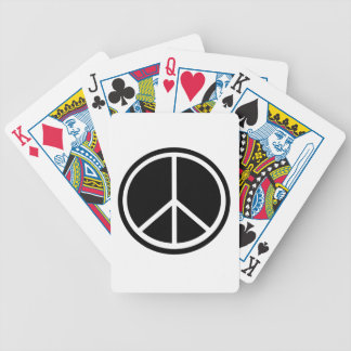 Símbolo de paz baraja cartas de poker
