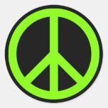 Símbolo de paz chartreuse pegatina