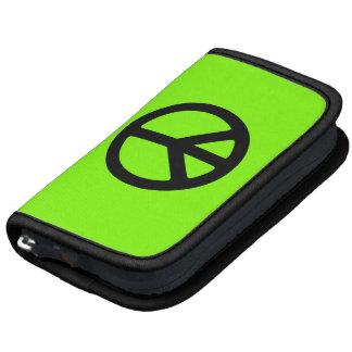 Símbolo de paz chartreuse y negro planificador