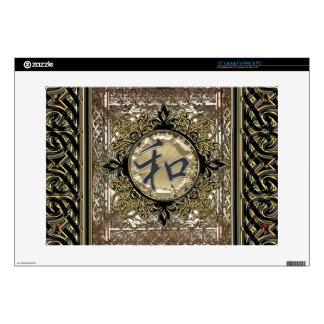 Símbolo de paz chino con la decoración céltica skins para 38,1cm portátil