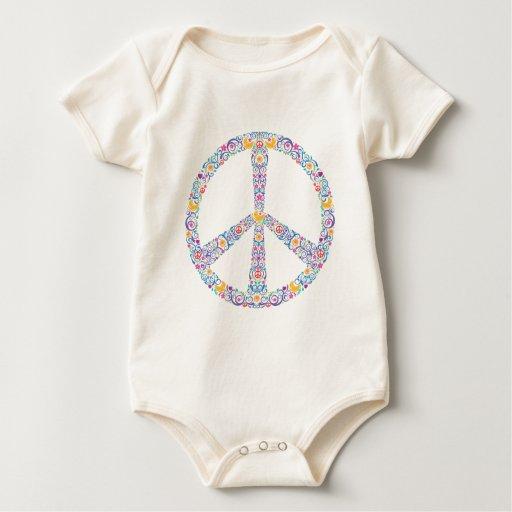 Símbolo de paz colorido mamelucos