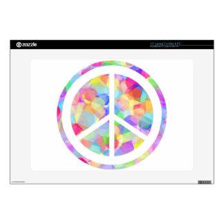 Símbolo de paz colorido portátil 38,1cm skins