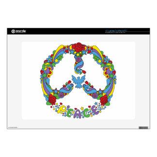Símbolo de paz con estilo del estallido-arte de portátil calcomanías
