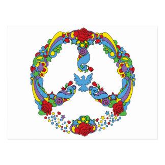 Símbolo de paz con estilo del estallido-arte de tarjeta postal