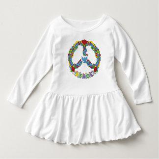 Símbolo de paz con estilo del estallido-arte de vestido
