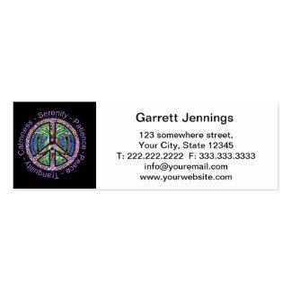 Símbolo de paz con la paz, armonía, balanza tarjetas de visita