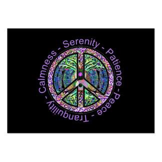 Símbolo de paz con la paz, armonía, balanza tarjetas de negocios
