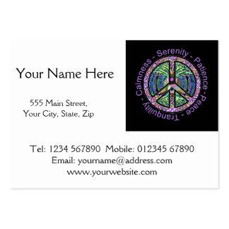 Símbolo de paz con la paz, armonía, balanza plantilla de tarjeta de visita