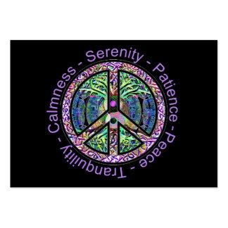 Símbolo de paz con la paz, armonía, balanza plantillas de tarjetas de visita