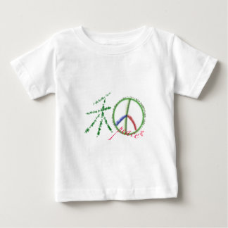 Símbolo de paz con palabra china remeras