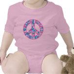 Símbolo de paz de Camo Trajes De Bebé