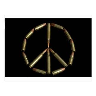Símbolo de paz de la bala postal