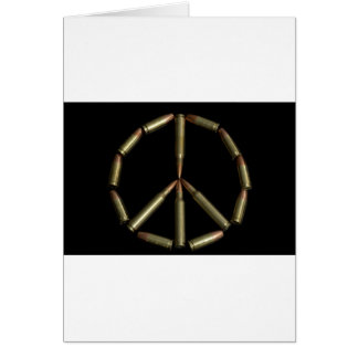 Símbolo de paz de la bala tarjeta de felicitación