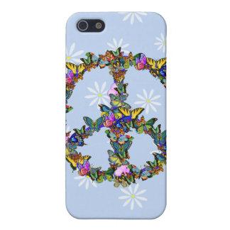 Símbolo de paz de la mariposa iPhone 5 protectores