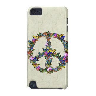 Símbolo de paz de la mariposa funda para iPod touch 5G