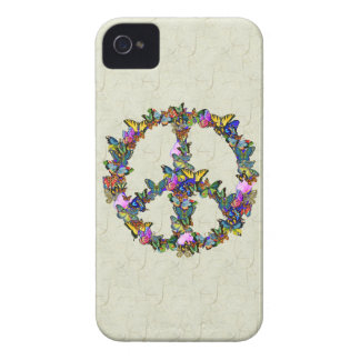 Símbolo de paz de la mariposa iPhone 4 fundas