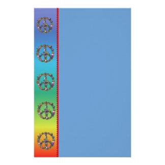 Símbolo de paz de la mariposa papelería personalizada
