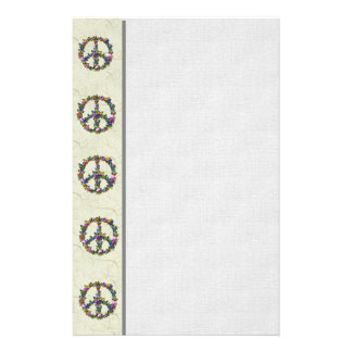 Símbolo de paz de la mariposa  papeleria de diseño