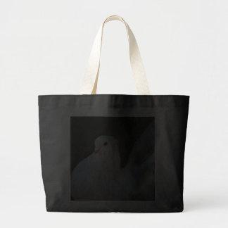 Símbolo de paz de la paloma del blanco bolsa