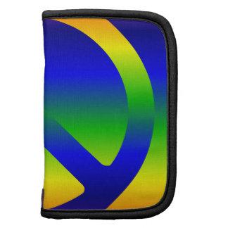 Símbolo de paz de la pendiente del arco iris organizador