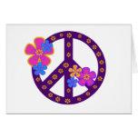 Símbolo de paz de las flores felicitación