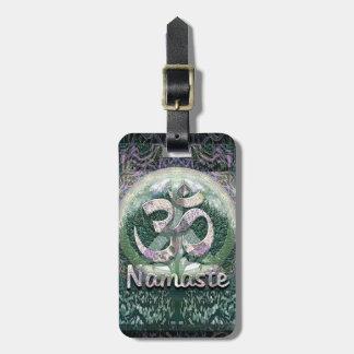 Símbolo de paz de Namaste Etiqueta Para Maleta