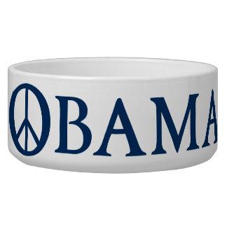 Símbolo de paz de Obama Comedero Para Mascota