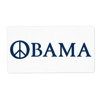 Símbolo de paz de Obama Etiquetas De Envío