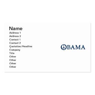 Símbolo de paz de Obama Tarjetas De Visita
